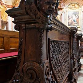 Stift Melk Abbey Church, Austria by Austin Speaker - Buildings & Architecture Architectural Detail ( catholic, baroque, monastery, pew, seating, melk, wachau, austria, abbey )