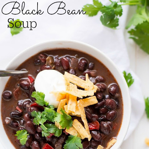 Black Bean Soup With Dried Beans Recipes | Yummly