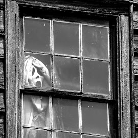 Boo by David Walters - Buildings & Architecture Decaying & Abandoned ( lumix fz200, scarry, ghost, props, halloween )