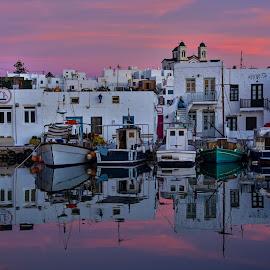 Naoussa Paros by Evangelia Baliou - City,  Street & Park  Street Scenes