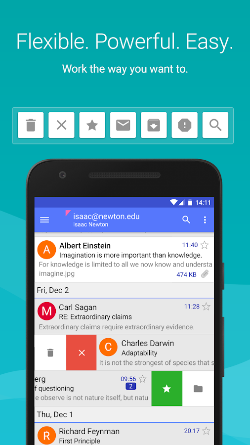 Aqua Mail - email app Screenshot 0