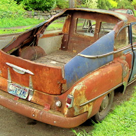 HOW NOT TO MAKE AN EL CAMINO! by William Thielen - Novices Only Objects & Still Life ( car, orange, patina, junker, truck, blue, chopped, worn, chevrolet, automobile, rusty, chevy, classic )