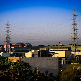 Electric Towers by Prasanta Das - Buildings & Architecture Bridges & Suspended Structures ( towers, metro, electric )
