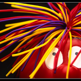 red nose by Paul Lonsdale - Artistic Objects Still Life ( comic relief, macro, red, nose, colours )