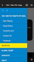Screenshot of 100.7 Mix FM Todays Hit Music