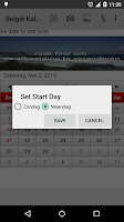 Screenshot of België Kalender 2015