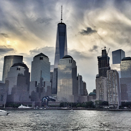 Freedom Tower by Michael Lunn - Instagram & Mobile iPhone ( hudson river, wtc, manhattan, nyc, new york )