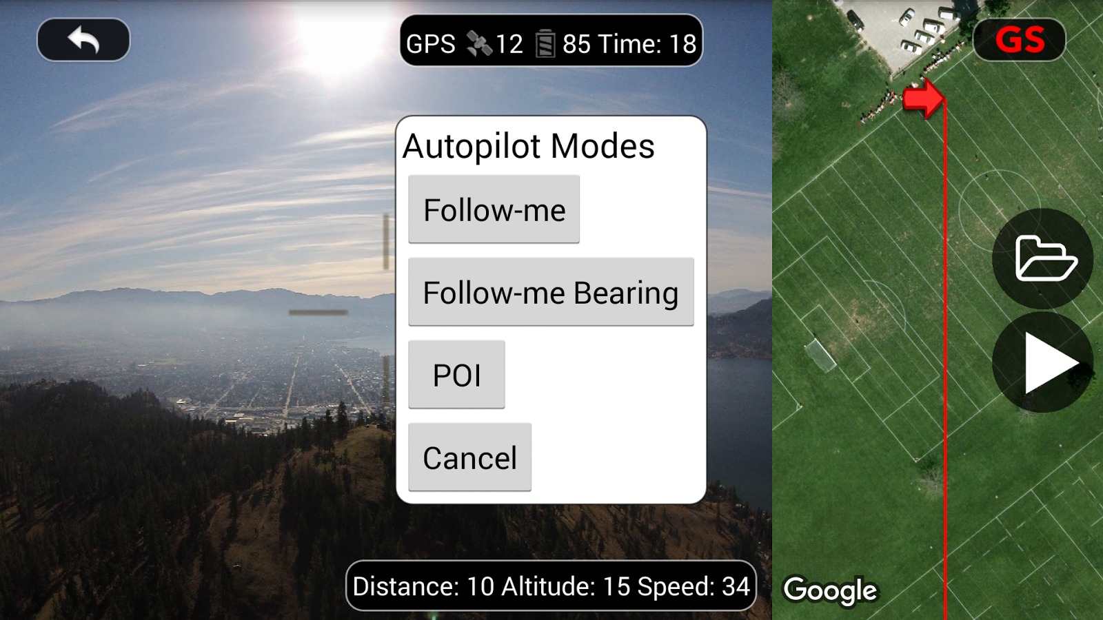 DJI Phantom Flight (v2) Screenshot 1