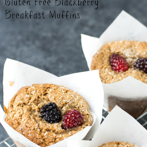 Gluten Free Blackberry Almond Flour Breakfast Muffins