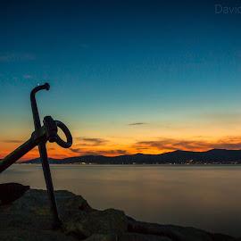 Luka's Sunset by David Marjanovic - Landscapes Sunsets & Sunrises ( croatia, sky, split, blue, sunset, colors )