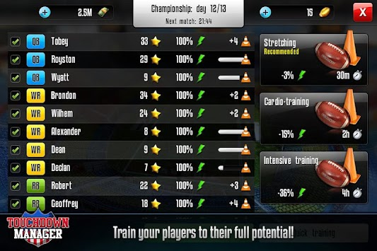 Touchdown Manager APK screenshot thumbnail 4