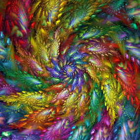Spiralopia by Peggi Wolfe - Illustration Abstract & Patterns ( abstract, wolfepaw, color, bright, fun, spiral, fractal, digital )