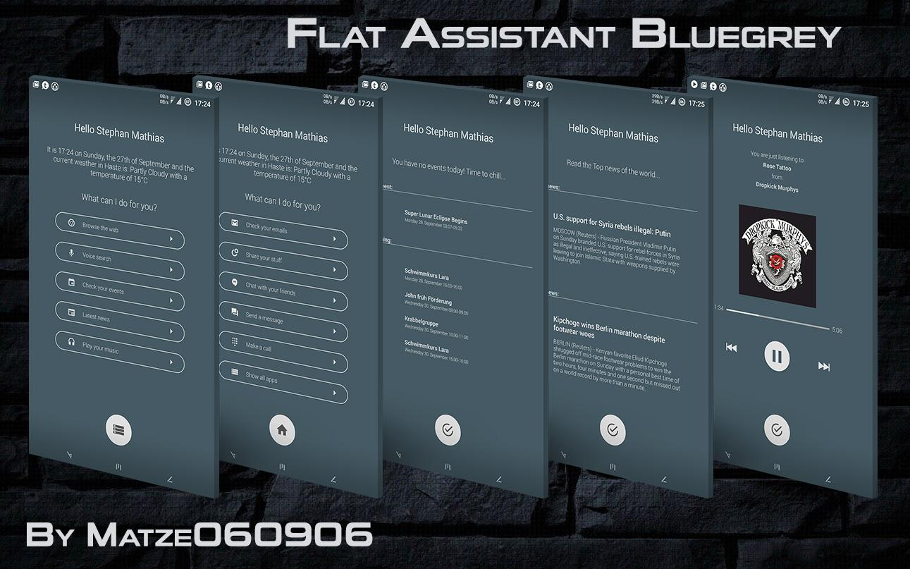 Flat Assistant for KLWP Screenshot 1