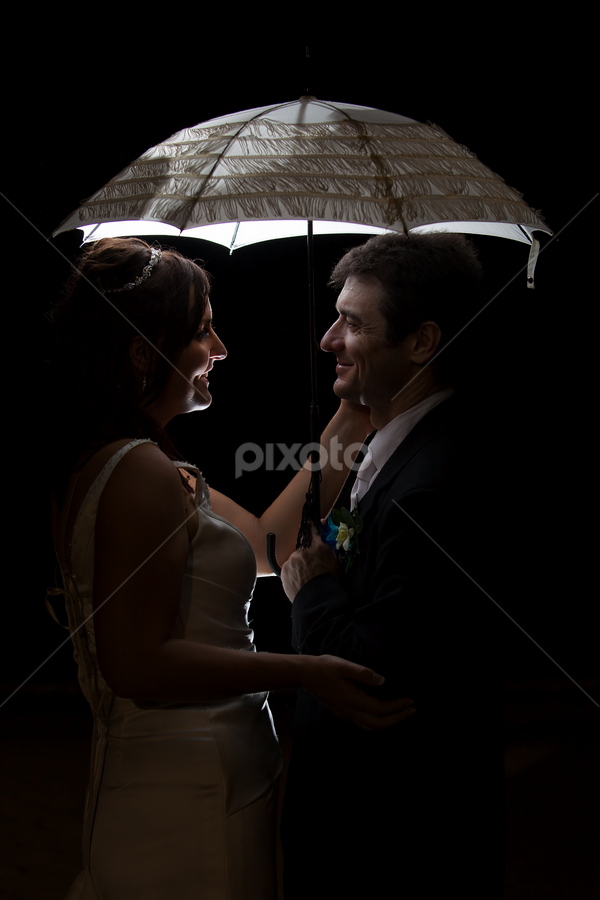 Corina & Darren by Peter Cannon - Wedding Bride & Groom ( canon, wedding, australia, creative lighting, low light, bride & groom, people, portrait )