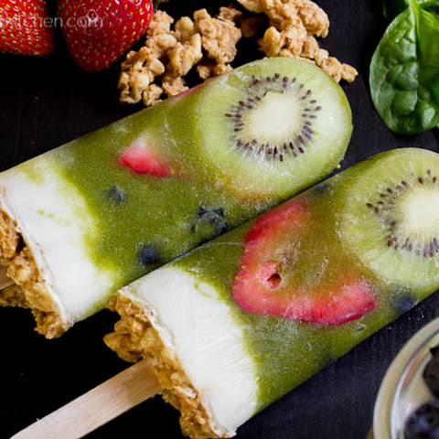 Green Smoothie Parfait Popsicles