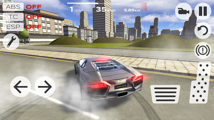 Extreme Car Driving Simulator Android App Screenshot
