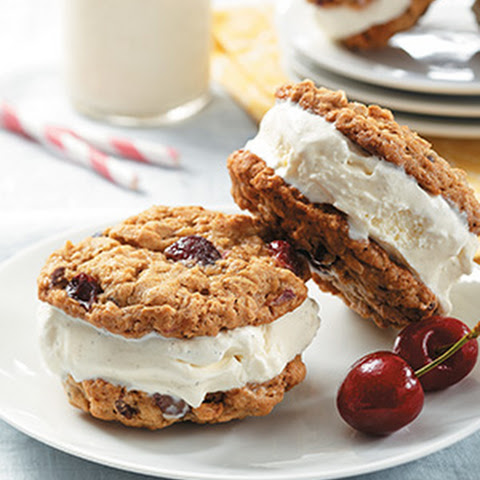 Cherry Oatmeal Cookie Sandwiches