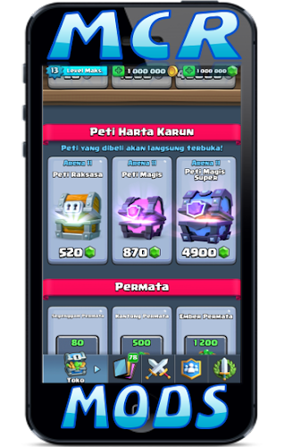 Incridible Mods Clash Royale Extended (MCR) Android App Screenshot