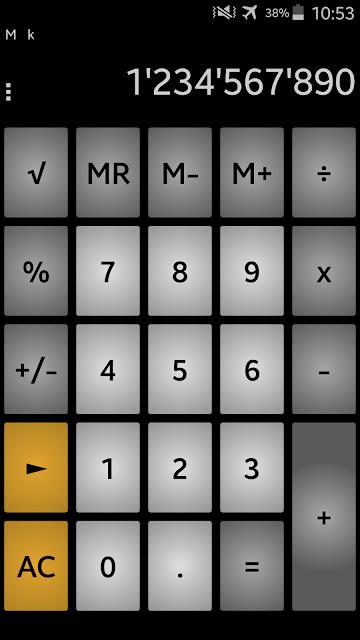 Calculator andanCalc PRO screenshots