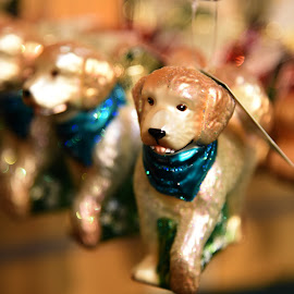 Glass Dog Ornaments  by Lorraine D.  Heaney - Artistic Objects Glass