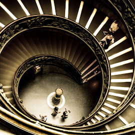 Spirals by Andrei Ciuta - Buildings & Architecture Other Interior ( interior, stairs, details, architecture, spiral, vatican, people )