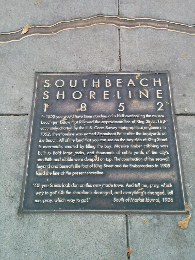 SOUTHBEACH SHORELINE1852 In 1852 you would have been standing on a bluff overlooking the narrow beach just below that followed the approximate line of King Street. First accurately charted by the ...