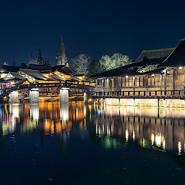 Wuzhen by Crispin Lee - Buildings & Architecture Homes ( buildings, travel, architecture, china, nightscape )