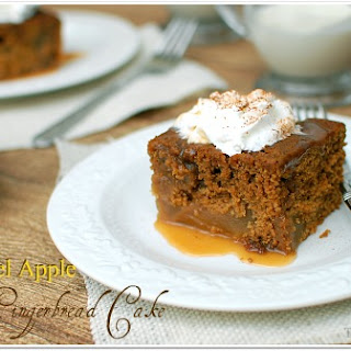 Caramel Apple Gingerbread Cake