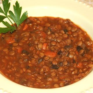 Vegetarian Mushroom Lentil Soup Recipes