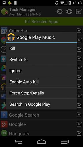 Task Manager (Task Killer) screenshot 2