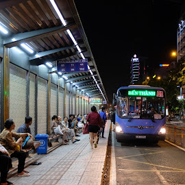 The wait  by Beh Heng Long - City,  Street & Park  Street Scenes ( home )