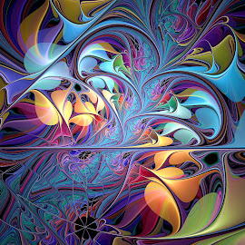 Summer Espiral by Peggi Wolfe - Illustration Abstract & Patterns ( abstract, wolfepaw, unique, bright, color, espiral, summer, fun, fractal, digital )