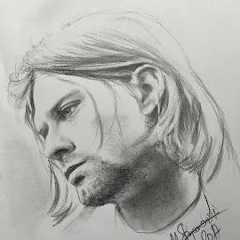 Kurt Cobain Portrait by Mihajlo Stojanovski - Drawing All Drawing ( cobain, grunge, kurt cobain pencil, nirvana, cobain portrait, nirvana drawing, kurt, kurt cobain )