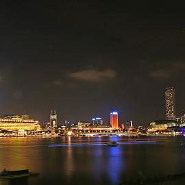 Marina Bay by Mulawardi Sutanto - City,  Street & Park  Night ( singapore, city, street, night, marina bay, travel )