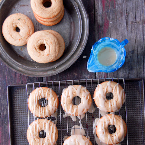 Glazed Buttermilk Peach Donuts {gluten-free}