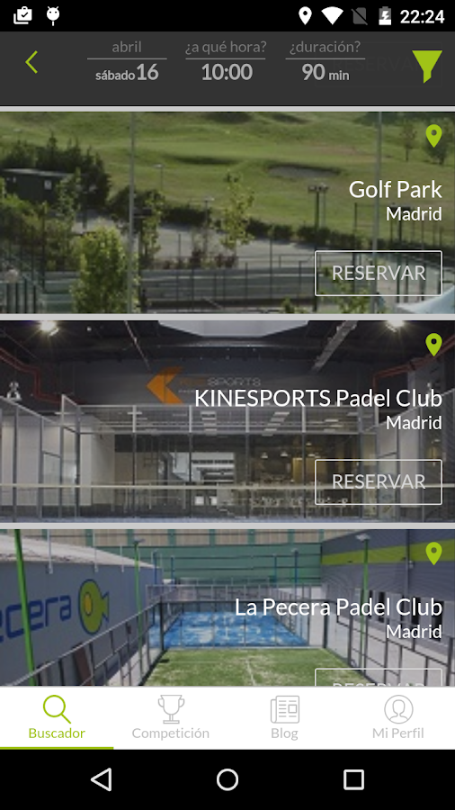 mypadel Screenshot 2