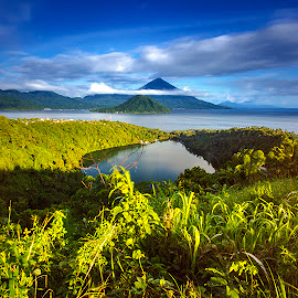 Lake, Sea and Mountain  by Ady Roses - Landscapes Mountains & Hills ( nature, north maluku, indonesia, ternate, landscape )