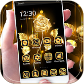 Free Download Gold Rose theme business gold APK for Samsung