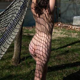 Shadows by Henk ten Hoope - Nudes & Boudoir Artistic Nude ( model, nude, outdoors, artistic nude, shadows )