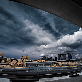 Circle of Life  by Jimmy Chiau - City,  Street & Park  Vistas ( park, infrared, singapore, marina barrage, city )