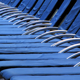 Deck Chairs by Steve Parsons - Artistic Objects Furniture ( abstract, blue, chairs, lounges, ship, furniture, deck, cruise )