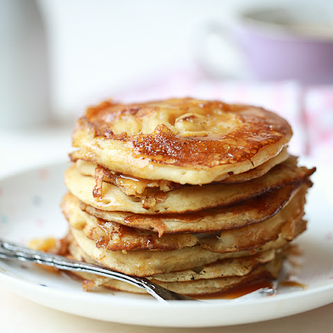 Mini Caramelised Banana Pancakes