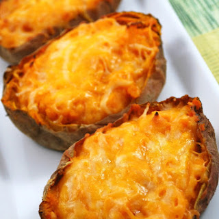 Twice Baked Lime Sweet Potatoes