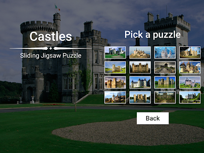 Castles Sliding Jigsaw - screenshot