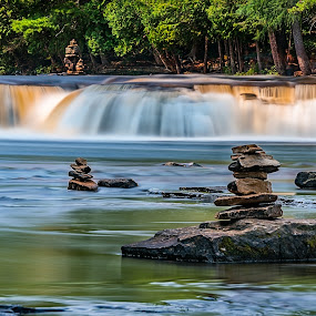 Tahquamenon Lower Falls by Andrew Christmann - Landscapes Waterscapes ( tahquamenon falls, michigan, waterscape, waterfall, water )