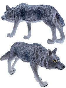 "Игрушка-фигурка серии ""Город Игр"", волк M2, серый"