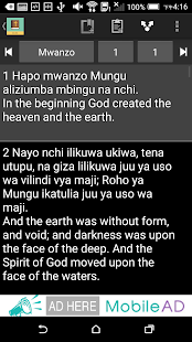 Swahili English Bible - screenshot