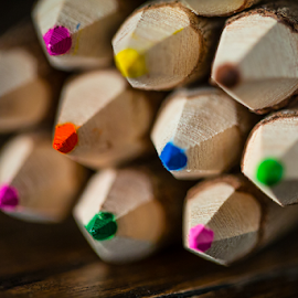All About the Wood by John Edwin May - Artistic Objects Education Objects ( detail, macro, color, dof, pencils )