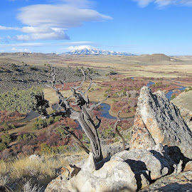 The RO by Kirby Hornbeck - Landscapes Mountains & Hills ( clouds, hills, mountains, wyoming, trees, landscapes, rivers, rocks )