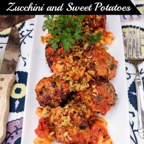 Turkey Meatballs with Zucchini and Sweet Potatoes